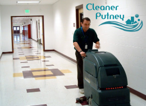 Hard Floor Cleaning With Machine